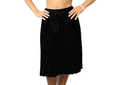 drykorn rock Drykorn Damen Rock Gr. 25 Schwarz Samt Peppy Plissee Rock Skirt A-Linie #H351