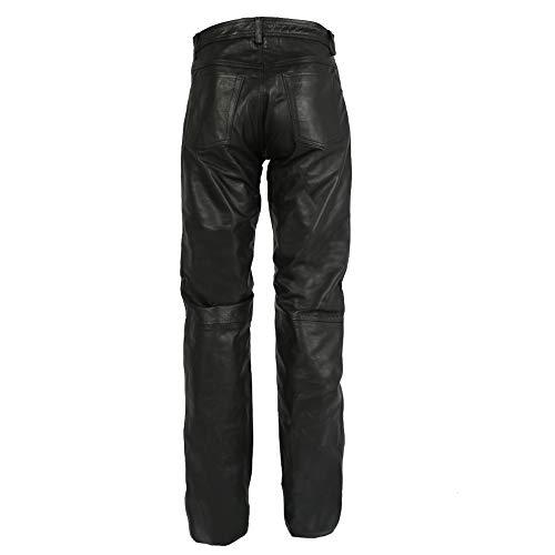 Texpeed - Herren Motorradhose im Stile einer Lederhose - schwarz - Größe W38 / 96,5cm