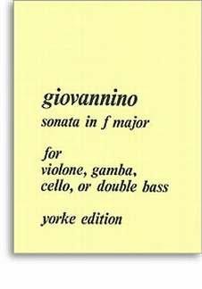 SONATE F-DUR - arrangiert für Violone (historisches Streichinstrument der Gambenfamilie) - Klavier [Noten / Sheetmusic] Komponist: GIOVANNINO