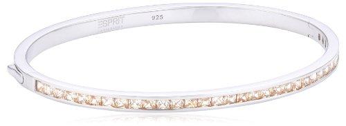 ESPRIT Collection Damen-Armreif 925 Sterling Silber rhodiniert Glas Zirkonia Perseus Angular Summer orange ELBA91038D600