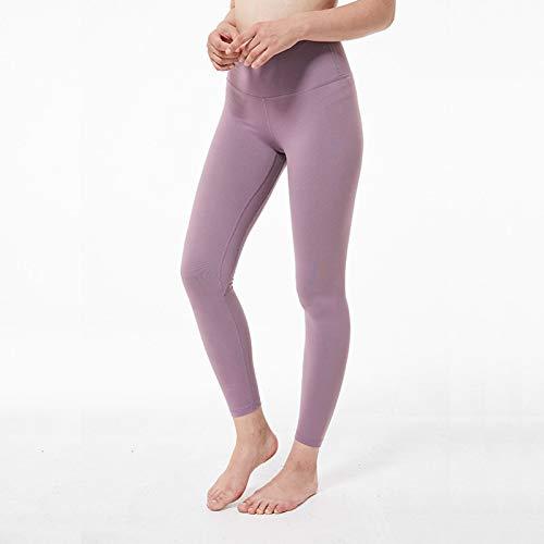 WZXY Hohe Taillen-Sport-Gamaschen-Eignung für weibliche Akademie-Ballett-Yogahosen, die Turnhallen-Kleidung mit versteckter Tasche abnimmt,Helles Lila,XS - Mädchen Für Akademie-kleidung
