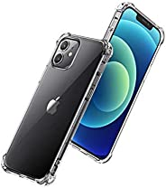 UGREEN Clear Case Compatible For iPhone 12/12 Pro Transparent Cover TPU Protective with 4 Corners Bumper Shock
