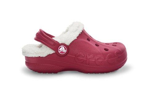 Crocs Baya Lined Kids, Sabots mixte enfant Rouge