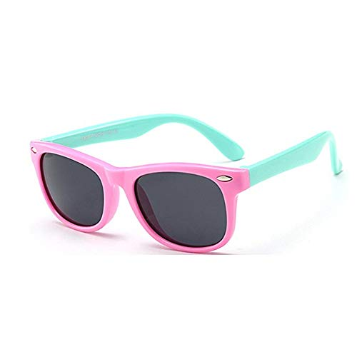 FOURCHEN Gafas de sol para niños, gafas de sol Kids Rubber flexible Gafas de sol polarizadas para...