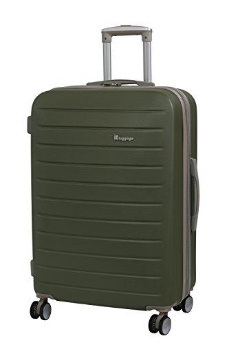 it luggage Legion 8 Wheel Medium Spinner Expandable Hard Case Koffer, 71 cm, 110 liters, Grün (Olive) - Expandable Trolley Case