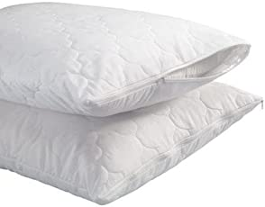 Portico New York Quilted Pillow Protector Water Resistant Pillow Cover- 46 cm X69 cm (Pack of 2 PC)