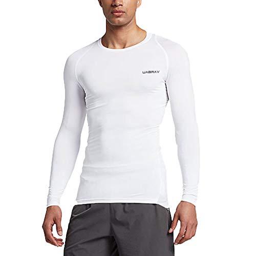 friendGG Herren Langarm Laufshirt,Herren Neue Fitness Training Kleidung Langarm Bluse Outdoor Sports Bluse Top (Mng Kleidung)