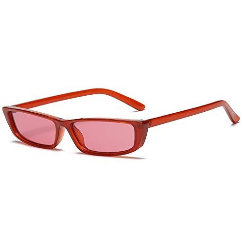 YUHANGH Vintage Cat Eye Sonnenbrille Frauen Mode Kleine Rahmen Sonnenbrille Damen Retro Persönlichkeit Katze Brille Uv400