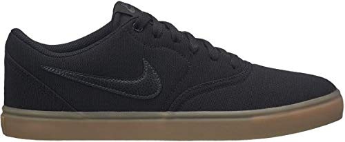 zapatillas nike sb check solarsoft 001 black white lona