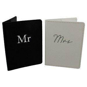 Amore Set of 2 Mr & Mrs Black and White Passport...