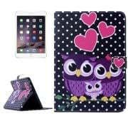 Alcoa Prime Owl Love Pattern Smart Leather Case with Holder Card Slots Wallet Wake-up / Sleep Function for iPad mini 3 / mini 2 / iPad mini