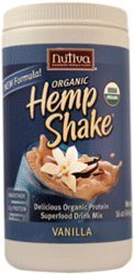 Organic Hemp Protein, Vanilla, 16 oz (454 g) - Nutiva from NUTIVA