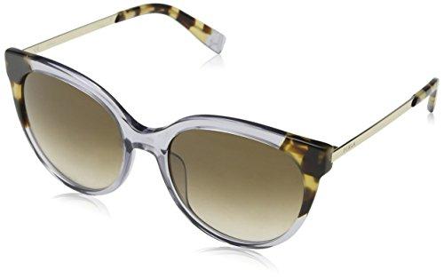 Furla eyewear, occhiali da sole donna, grigio (shiny transparent grey), 55
