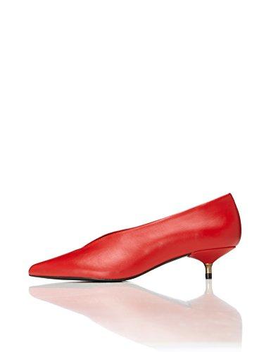 FIND Damen Kittenheel Absatzschuhe, Rot (Red), 38 EU