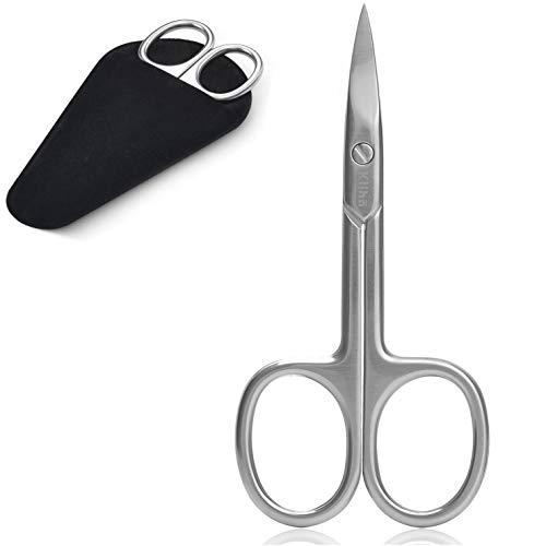 Klihn Forbicine per unghie in acciaio inossidabile extra affilate per uomo e donna - custodia inclusa - forbici per unghie professionali con estremità curve (Forbicine per unghie)