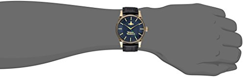 Vivienne Westwood Women's Quartz Watch with Blue Dial Analogue Display and Black Leather Strap VV065NVBK