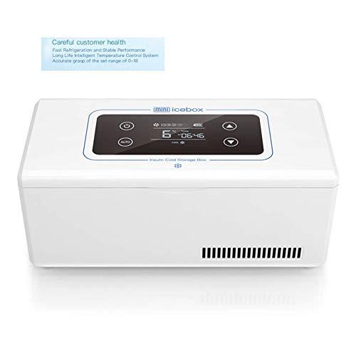315arzAi66L - Kievy Caja Refrigerada De Insulina Portátil De Gran Capacidad, Pantalla LCD Recargable 0-18 °C Coche Interferón Refrigerador Médico Mini Refrigerador Refrigerador, Camping
