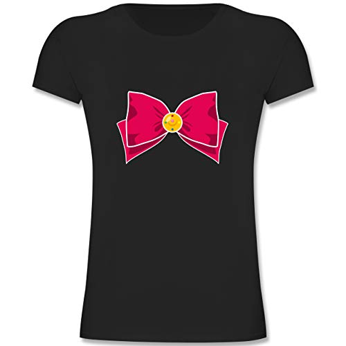 Kostüm Superhelden Jahre 11 - Karneval & Fasching Kinder - Superheld Manga Moon Kostüm - 140 (9-11 Jahre) - Schwarz - F131K - Mädchen Kinder T-Shirt