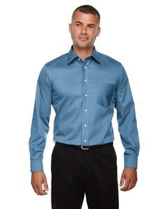 Men's Crown Collection� Solid Stretch Twill SLATE BLUE XS (Solid Slate)