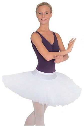 Kostüm Tutu Teller - Tellerrock-Tutu Halbtutu für Mädchen und Frauen (weiß, 38)