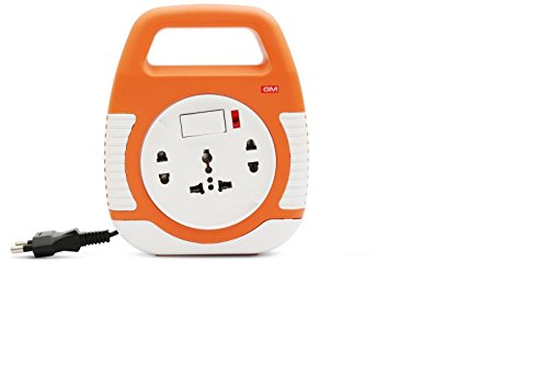 GM 3040-Square 2 Pin Flex Box 5 meter (with Handle, Indicator and International Socket)