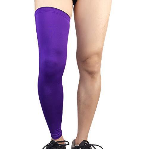 ZLCY Sport Knieschützer, Outdoor-Sport Für Männer Und Frauen Lang Atmungsaktiv (Farbe : Purple,...