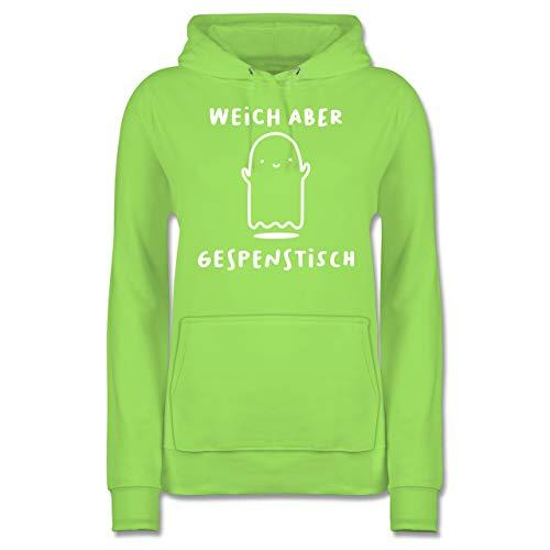 Shirtracer Halloween - Weich Aber gespenstisch Halloween - XS - Limonengrün - JH001F - Damen Hoodie (Halloween-kostüm 2019 Ideen Einfache Gruppe)