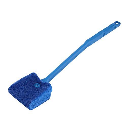 igungsbürste Pinsel Langer Griff Doppelseitigen Schwamm Pinsel Aquarium Fisch Pflanze Reinigungsbürste Scrubber Algen Saubere Bürste (Blau) ()