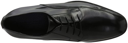 BIANCO - Dress Laced Up Son16, Scarpe stringate Uomo Nero (Schwarz (Black/10))
