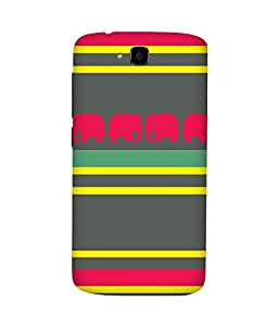 Stripes And Elephant Print (13) Huawei Honor Holly Case