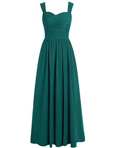 HUINI Damen Modern Kleid pfau