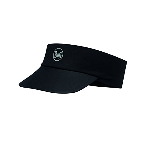 Original Buff, S.A. Buff Erwachsene Pack Run Visor Schirmmütze R Solid Black, One Size