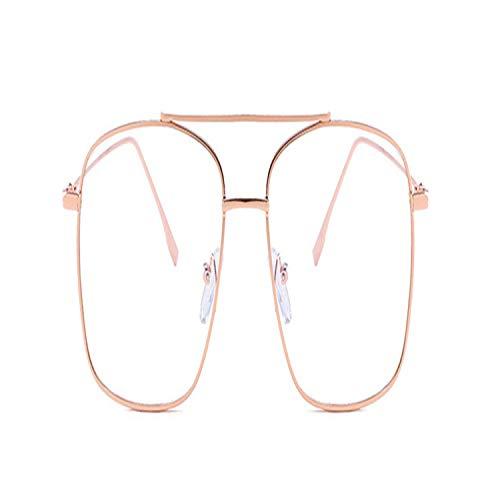 FGRYGF-eyewear2 Sport-Sonnenbrillen, Vintage Sonnenbrillen, NEW Metal Square Frame Yellow Sunglasses Women Trendy UV Protection Festival Fake Glasses Men Vintage Red Lens Oculos MTYJ113 GlassesPink