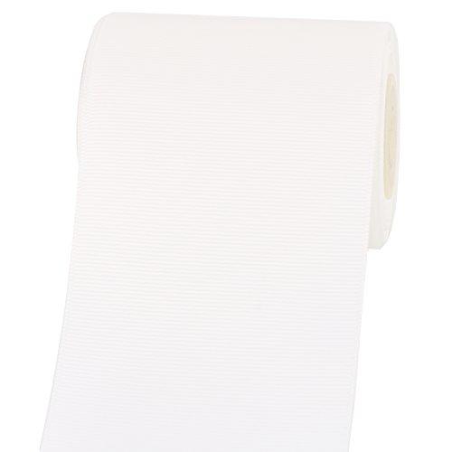 RUSPEPA Einfarbiges Ripsband - 75 MM Breit - 9,14 M/Spule (Weiß) -