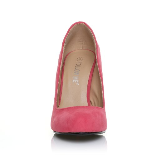 ... HILLARY Scarpe da donna con tacco alto stileto colore corallo finto  scamosciato SCAMOSCIATO CORALLO