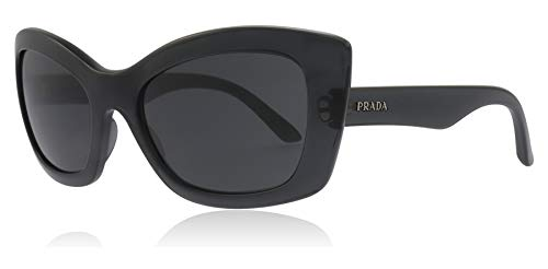 Prada PR19MS 4345S0 Transparent Grey Postcard Cats Eyes Sunglasses Lens Category 3 Size 55mm