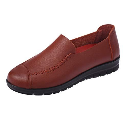 Preisvergleich Produktbild Yvelands Damen Single Schuh Freizeit Mittleren Alters Lady Bow Flat Round-Toe Mutter Schuhe Soft Bottom Single Schuh(CN-38, Orange1)