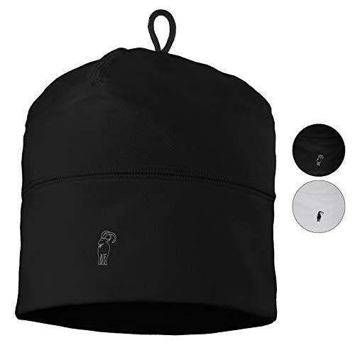 ALPIDEX Kinder Sportmütze Fussball Fahrrad Mütze Helm Unterziehmütze Dünn Jungen Mädchen, Farbe:Black -