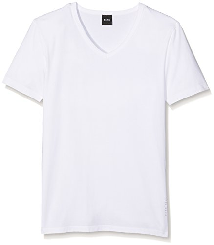 BOSS Hugo Boss Herren T-Shirt VN 2P CO/EL, Weiß (White 100), Medium