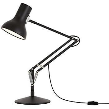 anglepoise lighting. brilliant lighting anglepoise type 75 mini desk lamp  jet black with lighting
