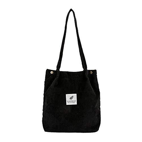 Damen Handtasche Groß Umhängetasche Canvas Tasche Henkeltasche Damen Canvas Shopper für Mädchen Schule by Dragon868