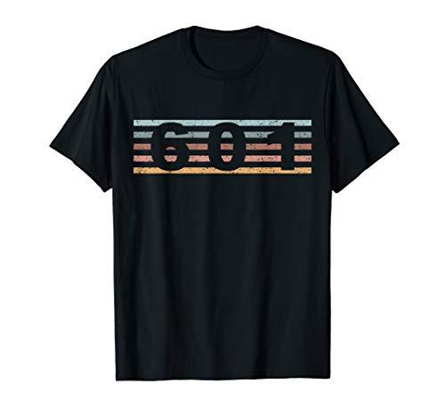 601 Vorwahl Retro Mississippi Jackson T-Shirt