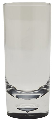 Acryl Brillenständer Smoked Hoher Tumbler, 12 Stück, Transparent