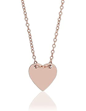 Juwelier Gelber 925 Silber Vergoldet Rosé Kette Gravur Platte Herz Wunsch Gravur