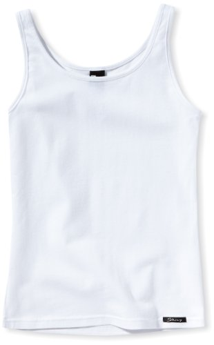 Skiny Mädchen Cotton Experience Girls Tank Top, Gr. 152, Weiß (White 0500) -