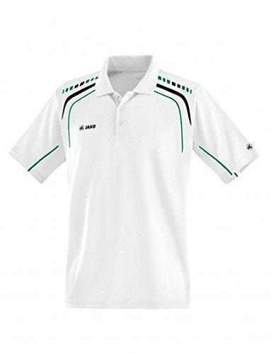 JAKO Polo Champion weiß/schwarz/sportgrün