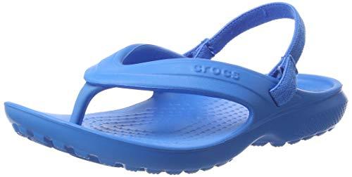 crocs Unisex-Kinder Classic Flip Kids Pantoffeln, Blau (Ocean), 24/25 EU (C8 UK)