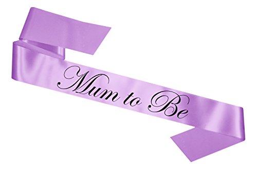 Lilac Satin Baby Shower Mum To Be Sash