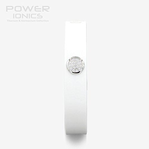 Power Ionics Bracelet Armband Powerarmband PowerIonics Ionenarmband Energie Wristband Magnet Armband 3000 Ions Smart Sports Bracelet Wristband PT066 (lover edition white)