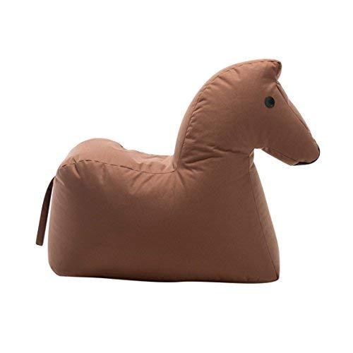 Sitting Bull Happy Zoo Lotte Caballo - Puf marrón oscuro/100% poliéster Revestido/L x An. x Al. 81x67x37cm